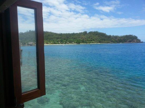 Likuliku Lagoon Resort: View from bath in overwater bure