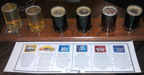 Keegan Ales: Sample of all 6 beers available.