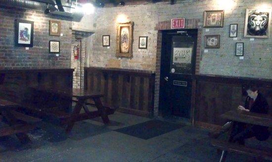Keegan Ales : Back of the bar room.