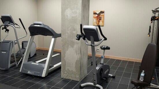 Hotel Dauphin Montreal Downtown: gym equipment, have build in heart BPM monitor