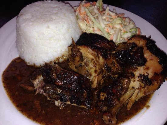 Cool Runnings: Jerk Chicken with Steamed Rice & Coleslaw