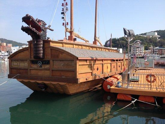 Dongpirang Wall Painting Village: Historic boat replica