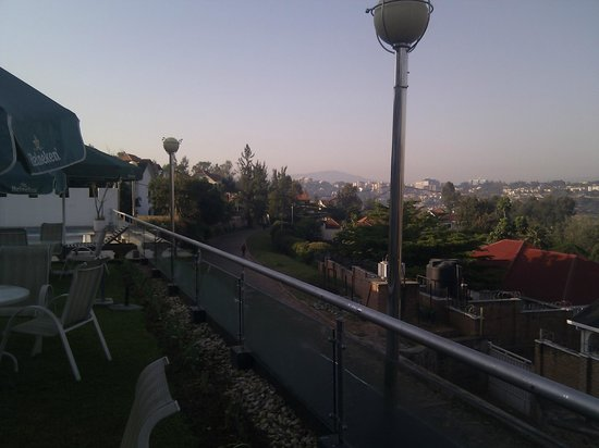 The Manor Hotel: View from pool