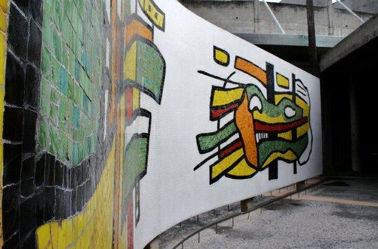 Universitätsstadt von Caracas (Ciudad Universitaria de Caracas): Bimural en Plaza Cubierta
