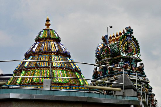 Arulmigu Sri Rajakaliamman Glass Temple: From the back of the temple.