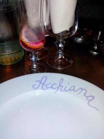 Achiana : apéritif de bienvenue offert
