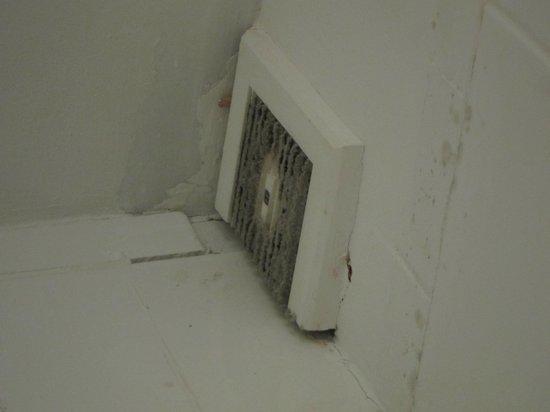 Leeson Inn Downtown: Bathroom fan covered in mould