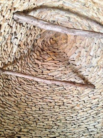Les Cabanes du Breuil: l'intérieur du toit