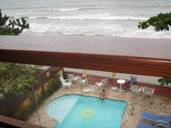 Pousada Casa na Praia : Vista da varanda superior.