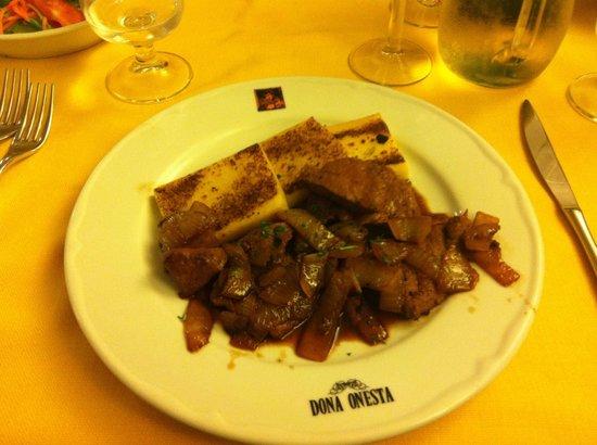 Dona Onesta : fegato alla veneziana