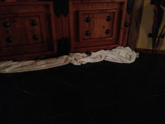 Sediba Private Game Lodge : Creepy crawlies entered underneath the door at night