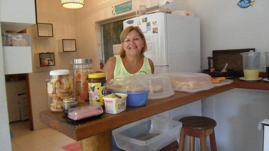 MOx Hostel Arraial d'Ajuda: Bom cafe da manhã.