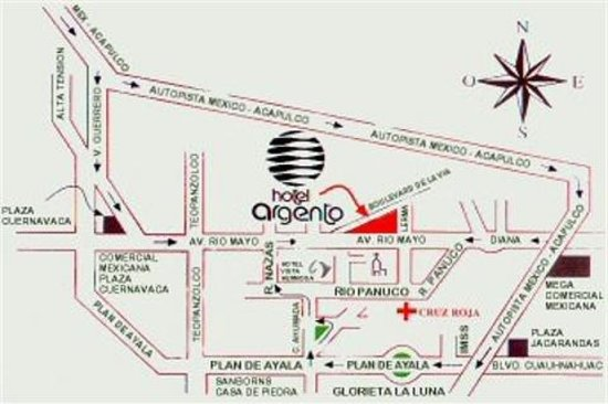 Hotel Argento: Map
