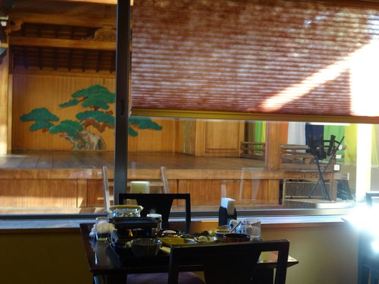 Dogo Onsen Yamatoya Honten: レストランからもよく見えます