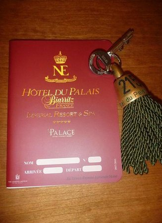 Hôtel du Palais : Unser Zimmerschlüssel und Zimmerkarte