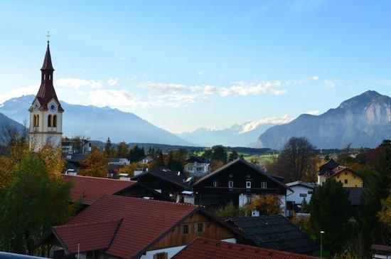 Sporthotel Igls: deel van het uitzicht vanuit de kamer