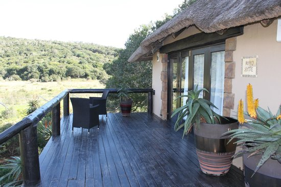 Kariega Game Reserve - River Lodge: Hippo Suite Balcony
