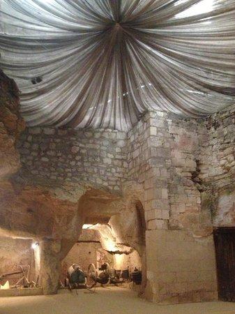 Château de Brézé : Cool Room in the limestone