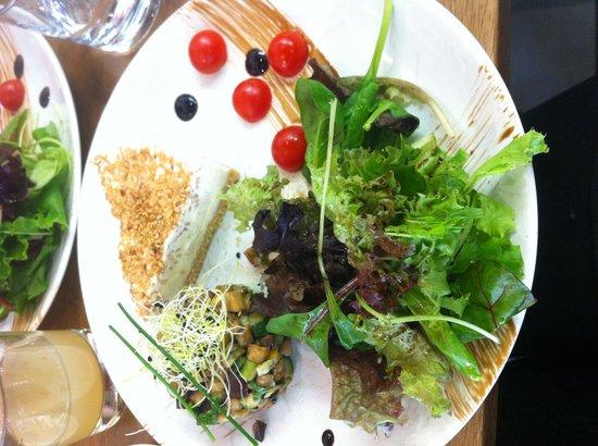 She's cake : Cheese cake sale chèvre accompagne de des de courgette et aubergines