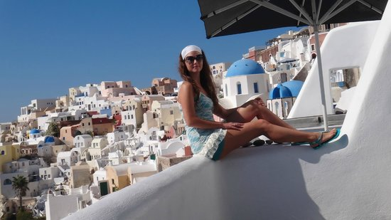Art Maisons Luxury Santorini Hotels Aspaki & Oia Castle: In our balcony