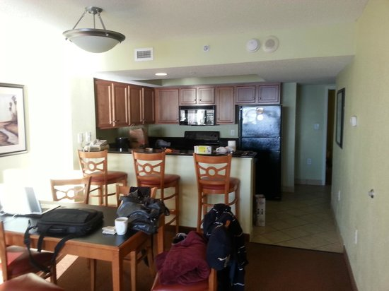 Bay View on the Boardwalk: From living area to kitchen