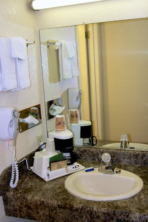 Country Hearth Inn & Suites: Bathroom & Amenties