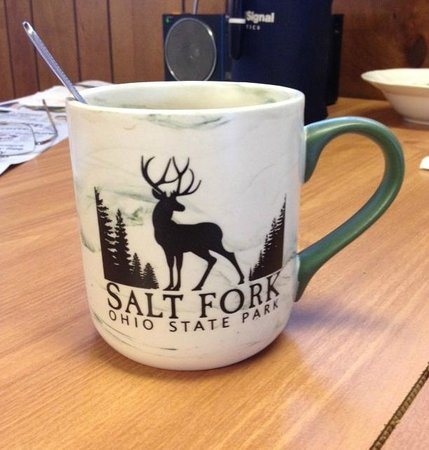 Salt Fork Lodge and Conference Center: coffee in the cabin