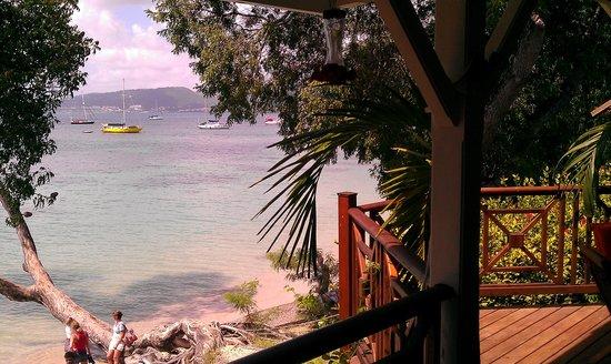 Creola Beach : Vue sur la baie depuis la terrasse