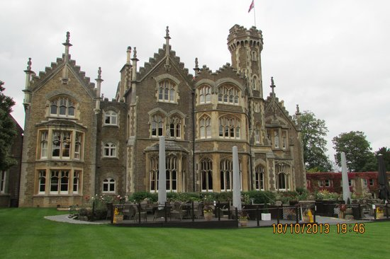 The Oakley Court: The Grand view of the Hotel from the Lawns.