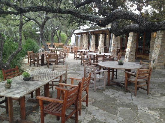 Travaasa Austin: A view of the patio at Jean's Kitchen.