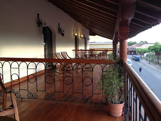 Hotel Plaza Colon: our balcony