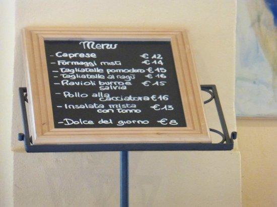 Vignamaggio: Lunch menu