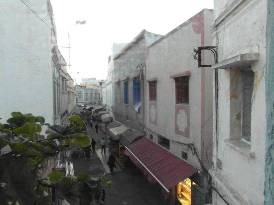 Riad Le Mazagao : vue de la chambre sur la re