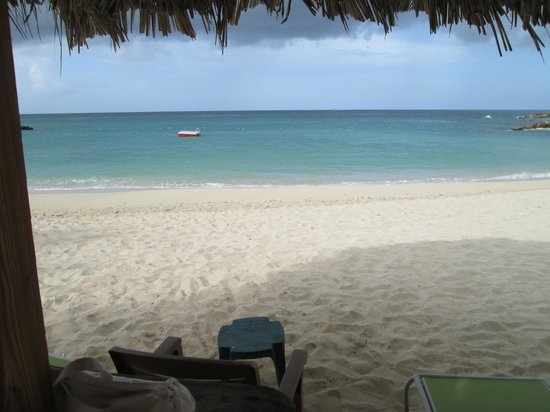 Simpson Bay Resort & Marina: View from our palapa.