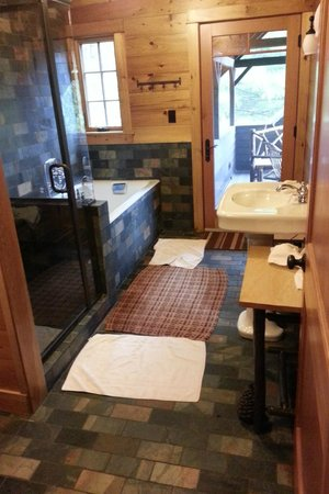 Dartbrook Lodge: master bath