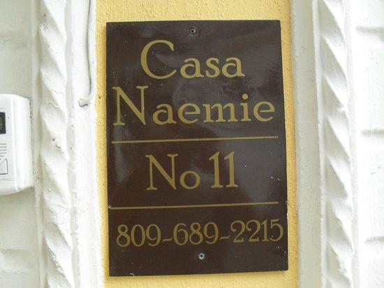 Casa Naemie : l'enseigne