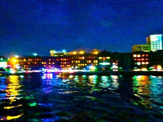 Good Times Charters: View at night from the boat