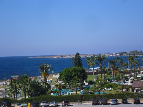Louis Imperial Beach: View from our balcony with Paphos harbour in the distance