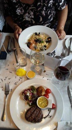 Mora: Fillet Steak and Seafood Linguini