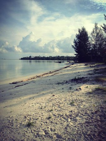 Putri Pandan Resort: The beach
