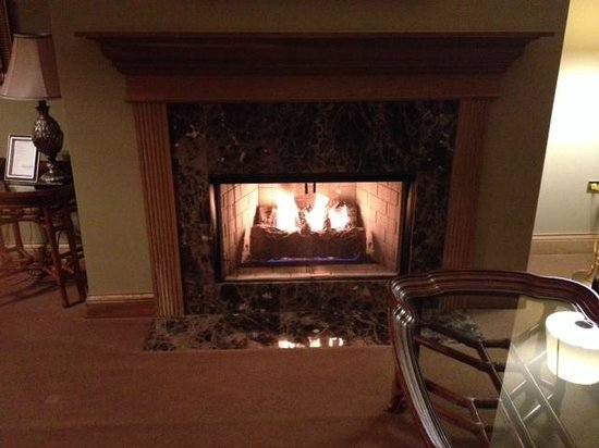 The Herrington Inn & Spa : Fireplace in suite
