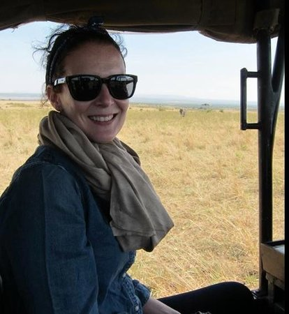 Entumoto Safari Camp: In the Entumoto Land Cruiser, elephant in the background