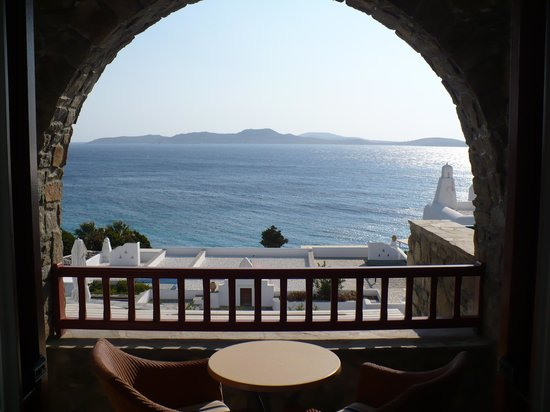 Mykonos Grand Hotel & Resort: Balkon Superiorzimmer