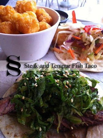 Taqueria Tsunami: Steak and Fish Taco