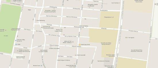 Hotel Casa Arnel : ubicación del hotel