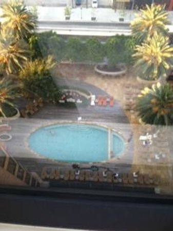 Four Seasons Hotel Houston : Early swimmers -view from the room