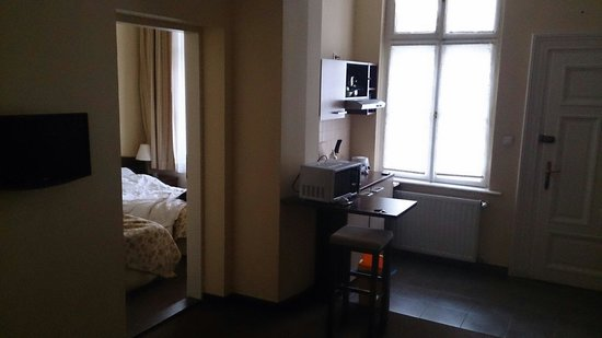 Krakow City Apartments : Room 9 up 2 flights stairs, clean comfy and great shower!