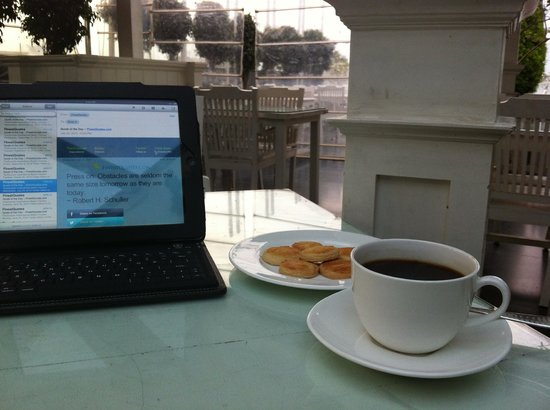 Escape Hotel & Spa: Hot coffee and biscuits at 6:30 a.m. watching the sunrise