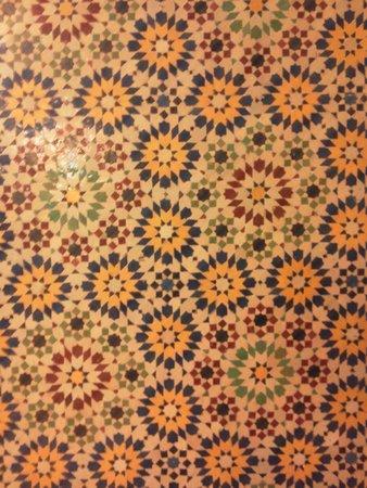 Amir Palace: мозаичный потолок холла