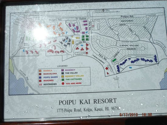 Regency Garden Villas: Map of PoiPu Kai Resort development